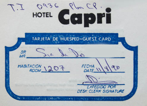 reservation at the Capri