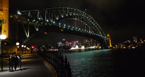 debaixo da Harbour Bridge