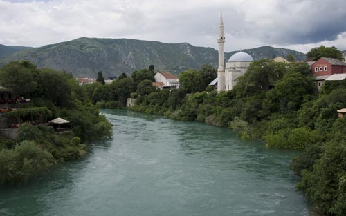 view from the Mostar bridge